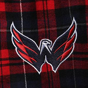 Men's Concepts Sport Red/Navy Washington Capitals Big & Tall Parkway Flannel Pants