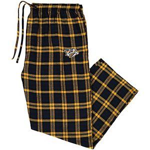 Men's Concepts Sport Navy/Gold Nashville Predators Big & Tall Parkway Flannel Pants