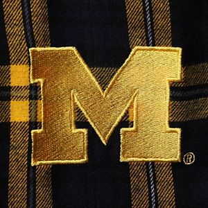 Men's Concepts Sport Navy/Gold Michigan Wolverines Big & Tall Parkway Flannel Pants
