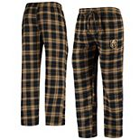 Men's Concepts Sport Black/Gold Vegas Golden Knights Parkway Flannel Sleep Pants