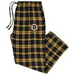 Men's Concepts Sport Black/Gold Boston Bruins Big & Tall Parkway Flannel Pants