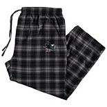 Men's Concepts Sport Black San Jose Sharks Big & Tall Parkway Flannel Pants