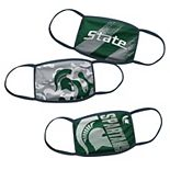 Youth Michigan State Spartans Face Covering 3-Pack