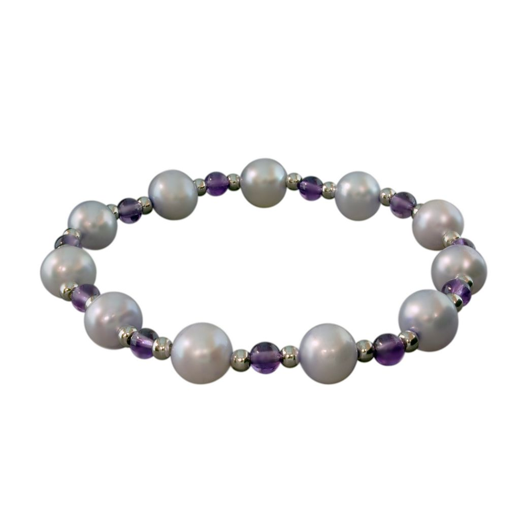 Sterling Silver Dyed Freshwater Cultured Pearl Flex Bracelet