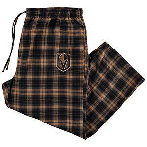 Men's Concepts Sport Black Vegas Golden Knights Big & Tall Parkway Flannel Pants