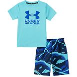 Boys 8-20 Under Armour Rashguard Top & Broken Waves Swim Trunks Set