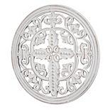 Hand-Carved Arabesque Cross Medallion Wall Decor