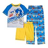 Boys 4-14 Sonic the Hedgehog Top, Shorts & Pants Pajama Set