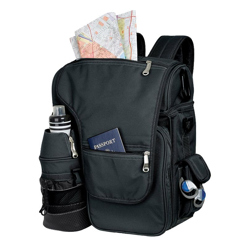 Oniva by Picnic Time Black Turismo Travel Backpack Cooler