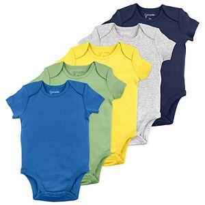 Baby Mac & Moon 5-Pack Short-Sleeve Bodysuits in Dinosaur Colors