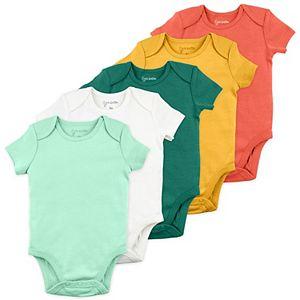 Baby Boy Mac & Moon 5-Pack Solid Short Sleeve Bodysuits