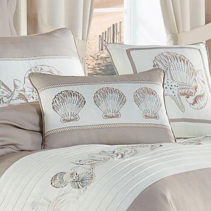 Royal Court Water's Edge Natural Boudoir Decorative Throw Pillow
