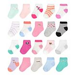 Baby / Toddler Girl Jumping Beans® 20 Pack Ankle Socks