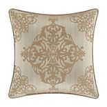 "Five Queens Court Cresmont Gold 18"" Square Decorative Throw Pillow"