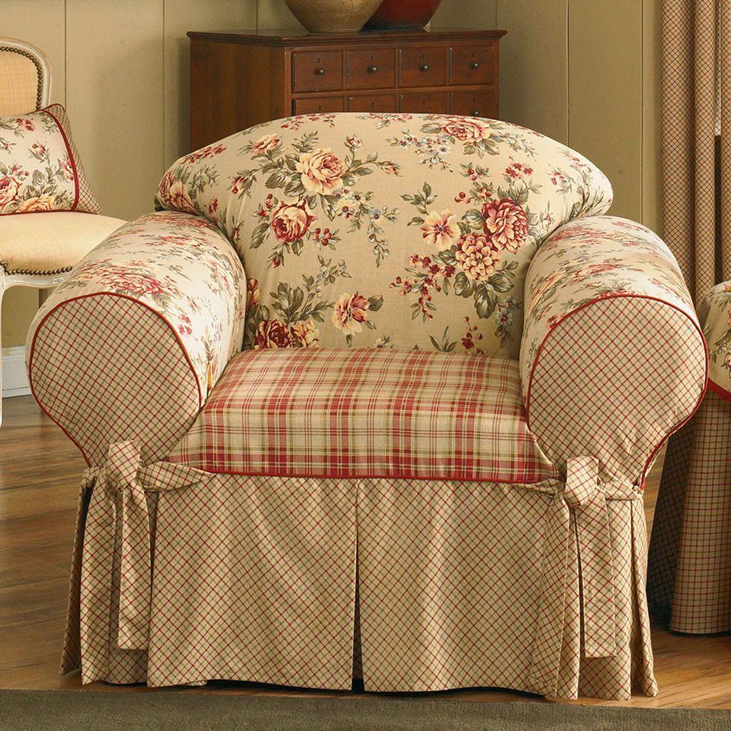 Sure Fit™ Lexington Floral Chair Slipcover