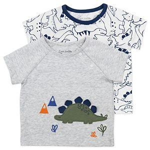 Baby Boy Mac & Moon Organic Cotton 2-Pack Dinosaur Tees Set