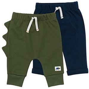 Baby Boy Mac & Moon Organic Cotton 2-Pack Dinosaur Pants Set