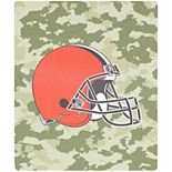 """The Northwest Company Cleveland Browns 50"""" x 60"""" Camo Silk Touch Throw Blanket"""