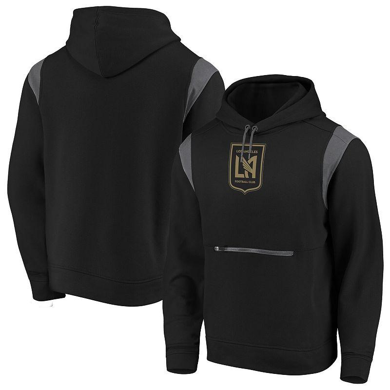 Men's Fanatics Branded Black LAFC Power Drive Iconic Pullover Hoodie, Size: Medium