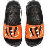 Youth Cincinnati Bengals Cropped Big Logo Flip Flops
