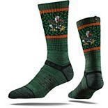 Youth Strideline Green Miami Hurricanes Primary Logo Crew Socks