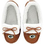Youth Green Bay Packers Moccasin Slippers