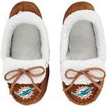 Youth Miami Dolphins Moccasin Slippers