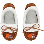Youth Cleveland Browns Moccasin Slippers
