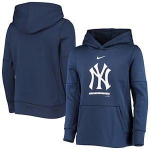 Youth Nike Navy New York Yankees Fleece Performance Pullover Hoodie