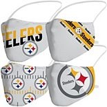 Adult Fanatics Branded Pittsburgh Steelers Variety Face Covering 4-Pack