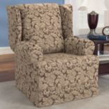 Sure Fit™ Scroll Leaf Wing Chair Slipcover
