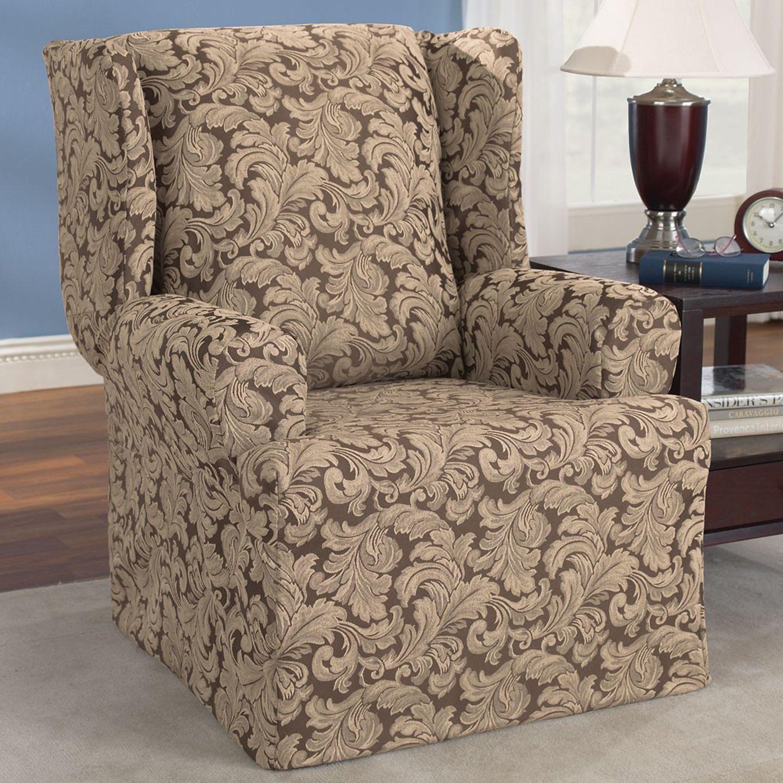 ... Wing Chair Slipcover. Regular