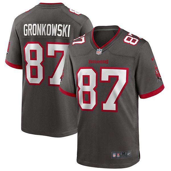 Men's Nike Rob Gronkowski Pewter Tampa Bay Buccaneers Alternate Game Jersey