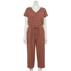 Petite Sonoma Goods For Life® Short Sleeve Knit Jumpsuit