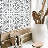 RoomMates Galway Gray Tile Backsplash Peel & Stick Giant Decal