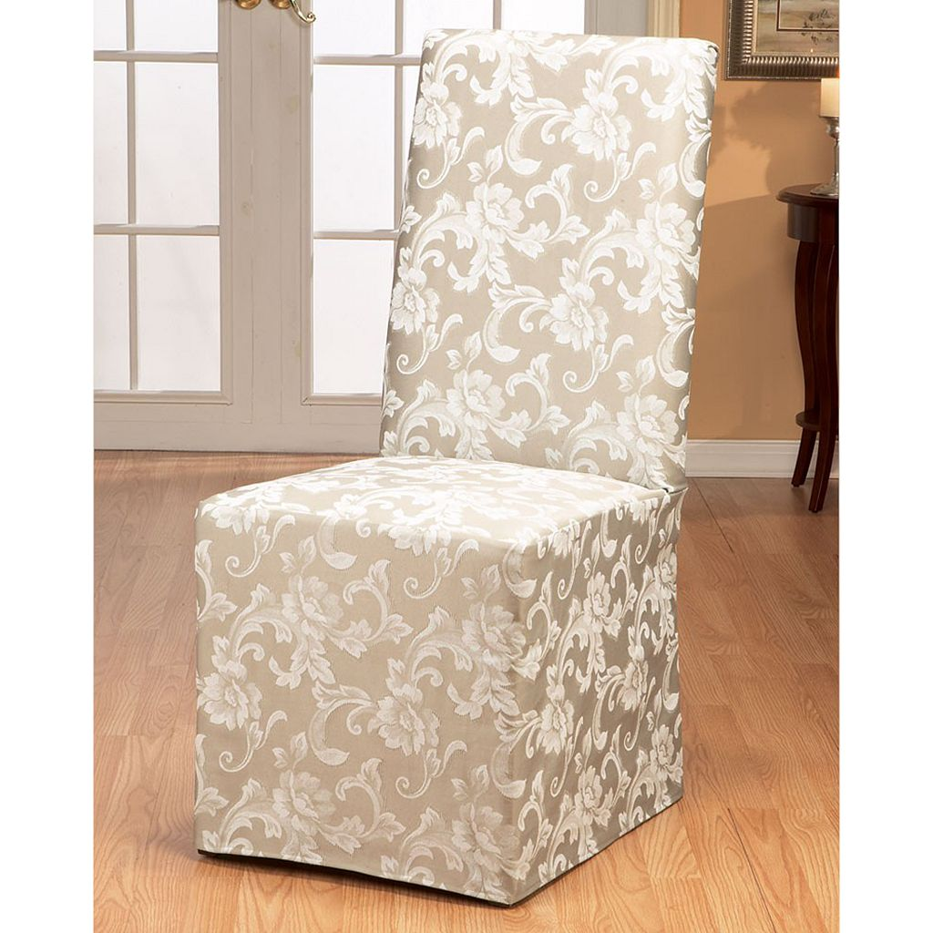 Sure Fit™ Scroll Leaf Dining Chair Slipcover
