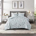 CosmoLiving by Cosmopolitan Pearl Metallic Printed Velvet Comforter Set