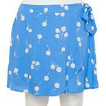 Juniors' Plus Size SO® Faux Wrap Skirt