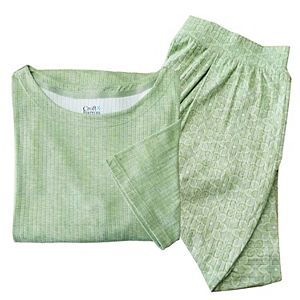 Plus Size Croft & Barrow® Pajama Top & Pajama Bermuda Shorts Set