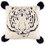 Betsey Johnson Tiger Throw Pillow