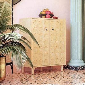 Dorel Living Venetta Modern Bar Storage Cabinet