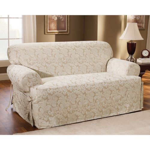 Sure Fit Scroll Leaf T-Cushion Sofa Slipcover