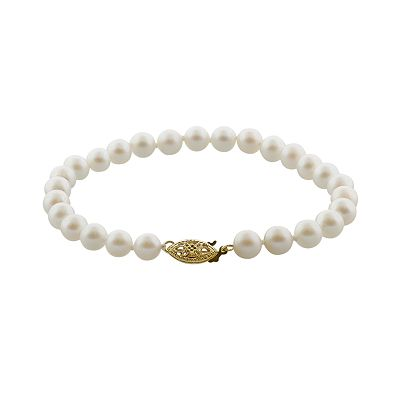 14k Gold Certified Akoya Cultured Pearl Bracelet