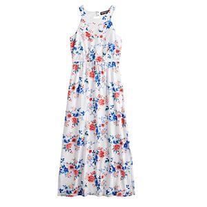 Girls 7-16 Three Pink Hearts Cameo Maxi Dress in Regular & Plus Size