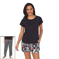 Cuddl Duds Womens 3-Piece Pajama Top Set Deals