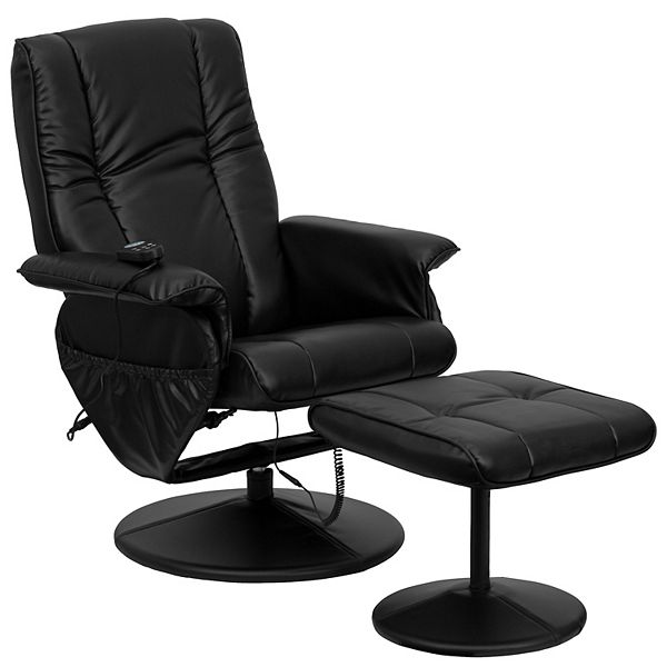 Flash Furniture Adjustable Massage, Flash Furniture Recliner Chair With Ottoman