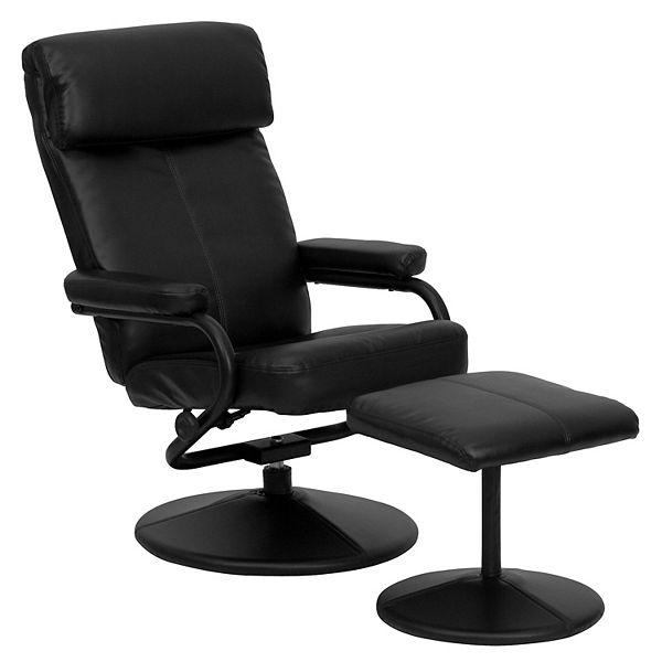 Flash Furniture Sleek Recliner Chair, Flash Furniture Recliner Chair With Ottoman