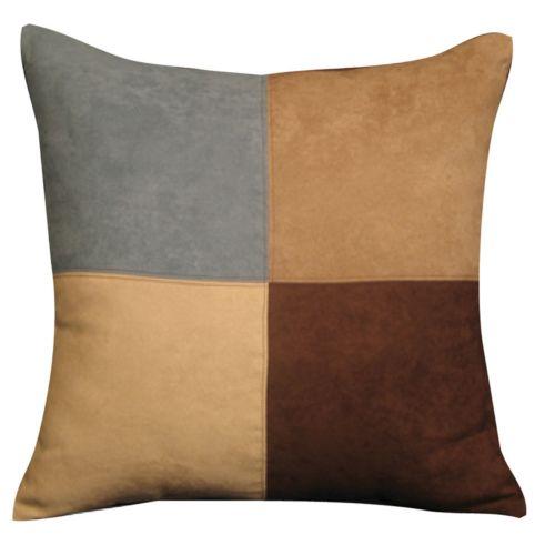 Sure Fit Faux-Suede Colorblock Accent Pillow