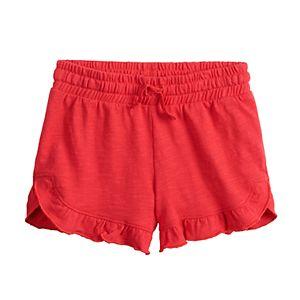 Girls 4-12 Jumping Beans® Ruffled Hem Shortie Shorts
