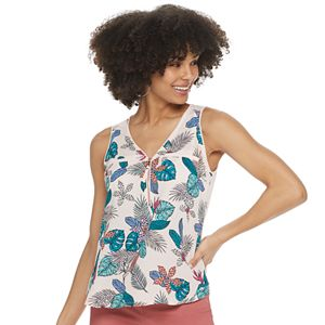 Juniors' Candie's® Zip Front Tank Top